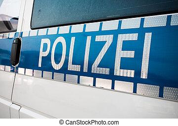 tysk vogn, politi underskriv