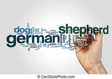 tyska herde, ord, moln, begrepp