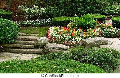 tyst, trädgård