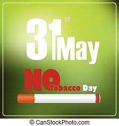 tytoń, nie, może, 31, świat, dzień