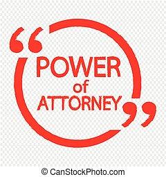 tytuł, adwokat, projektować, ilustracja, moc