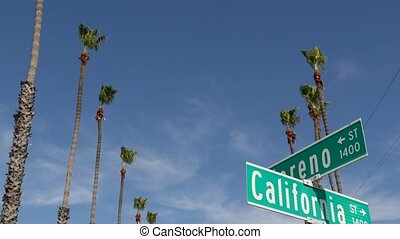 tytuł, drogowskaz, turysta, vacations., symbol, miasto, ...