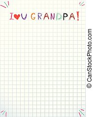 tytuł, gratulacje, dzieciaki, miłość, granddad, odręczny, ty, grandpa.
