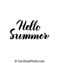 tytuł, handwritten, powitanie, lato