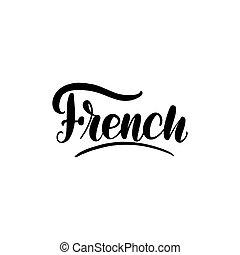 tytuł, projektować, card., francuski, graficzny