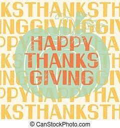 tytuł, thanksgiving ozdoba, święto, dzień, karta, szczęśliwy