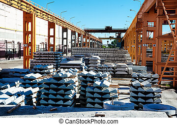 Finished goods warehouse at Concrete Goods Plant