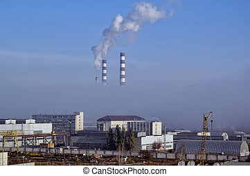 City Energy and Warm Power Factory in smoke