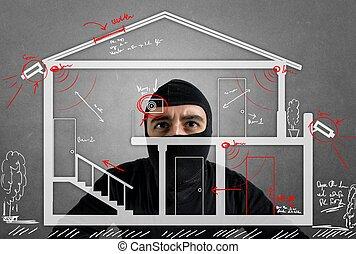 tyv, beboelseslejligheden