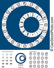 tzolkin, calendrier, maya