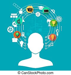 učenost, stav připojení