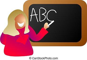 učitelka, anglický