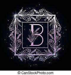 ułożyć, b, skwer, litera, liście