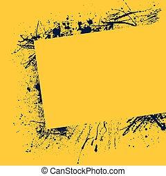 ułożyć, bryzg, żółty