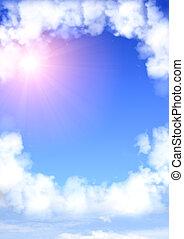 ułożyć, chmury, biały