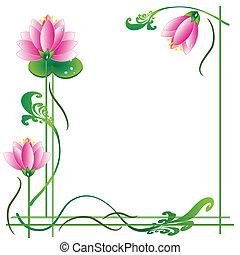 ułożyć, lotosy