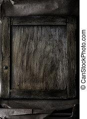 ułożyć, na, drewniany, tło, -, rocznik wina, styl, skutek, obraz