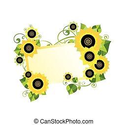 ułożyć, słoneczniki