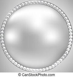 ułożyć, srebro, perl
