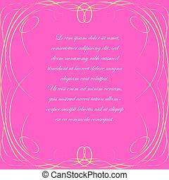 ułożyć, tło, różowy, elegancki
