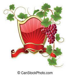 ułożyć, winorośl