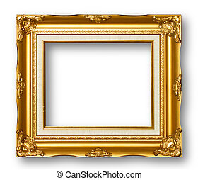ułożyć, złoty, obraz