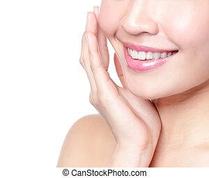 uśmiech, i, zdrowie, zęby