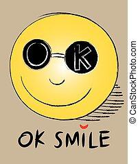 uśmiech, ikona