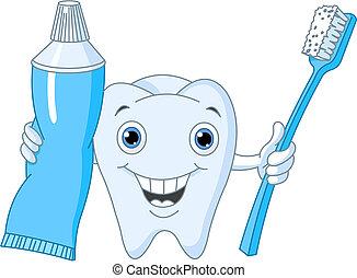 uśmiech, toothy