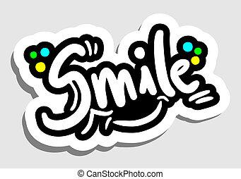 uśmiech, wtykać