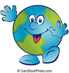 uśmiechanie się, earth.