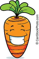 uśmiechanie się, marchew