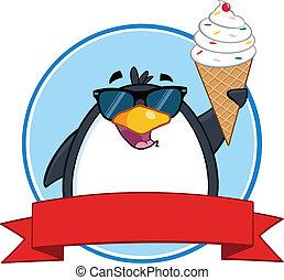 uśmiechanie się, sunglasses, pingwin