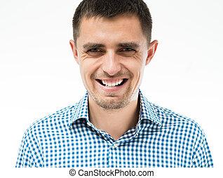 uśmiechnięty człowiek