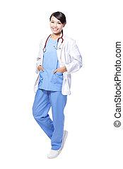 uśmiechnięty doktor kobiety
