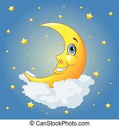 uśmiechnięty księżyc
