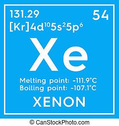 ušlechtilý, mendeleev's, gases., pralátka, chemikálie, periodický poloit na stůl, xenon.