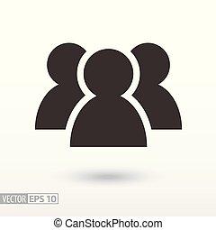 użytkownicy, płaski, icon., znak, użytkownik