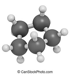 używany, fre, chłodnie, molecule., cyclopentane, cycloalkane