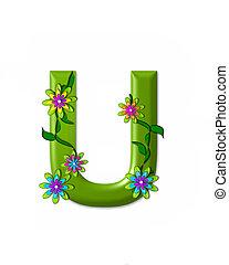 u, alfabeto, wonderland