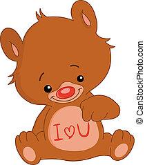 u, amor, urso