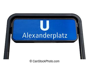 U-bahn sign