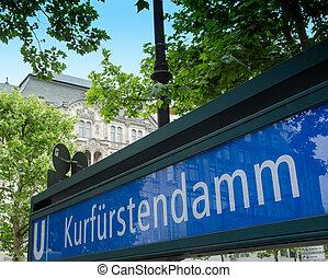 U-Bahn subway sign in Berlin