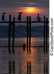 U Bein Bridge - Mandalay - Myanmar - U Bein Bridge at...