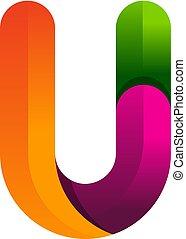 U Colorful Letter Logo Icon Design