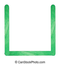 English alphabet by green wood