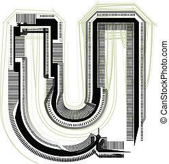u, font., litera, techniczny