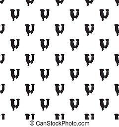 U letter isolated on white background