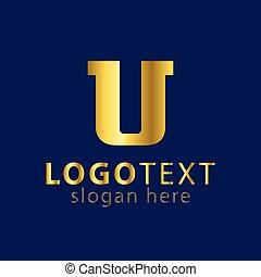 u letter logo icon vector template