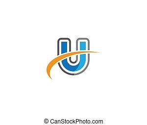 U letter logo vector icon